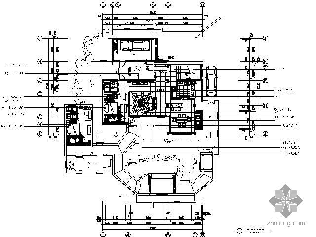 [苏州]新中式风双层别墅施工图(含效果)