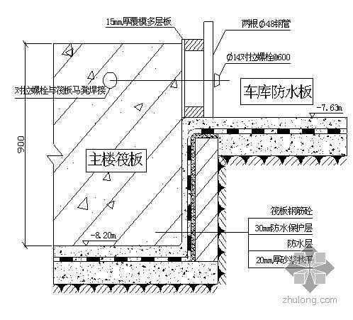 河北省某高层住宅模板施工方案(覆模多层板、组合钢模)