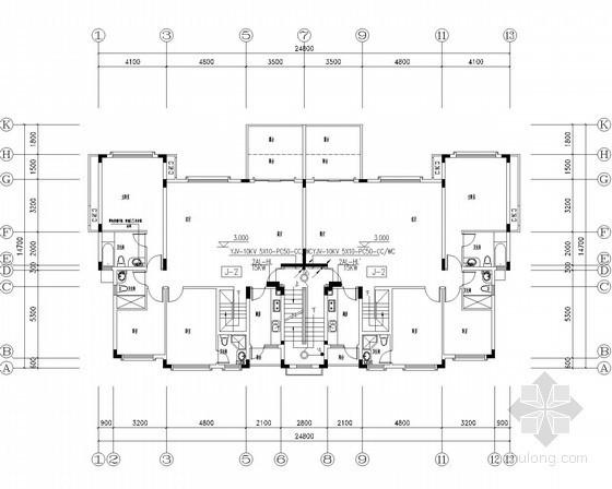 [广东]大型多栋高层高级商住楼全套电气施工图纸147张