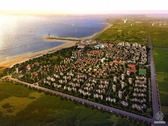 [营口]某海滨项目别墅区概念规划设计方案