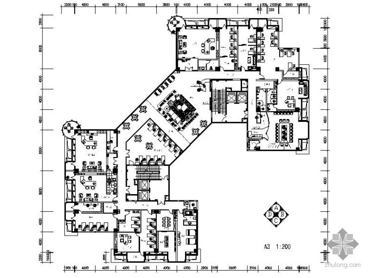 某公司办公空间室内设计装修图