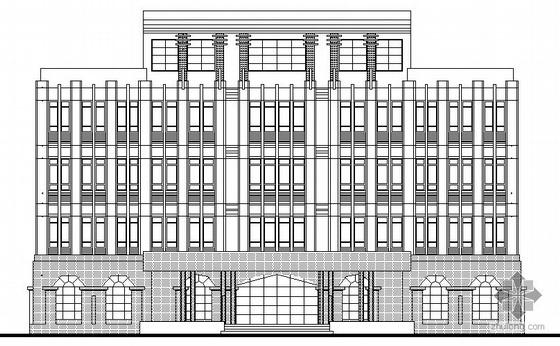 [中山市]某五层村委办公楼建筑设计施工图