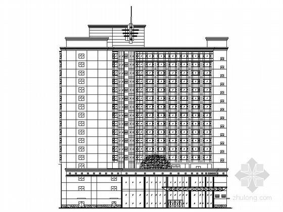 某十七层L型星级酒店建筑扩初图