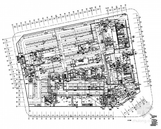 [福建]城市地标高档商业中心全套强弱电施工图399张(5A写字楼 百货 步行街)