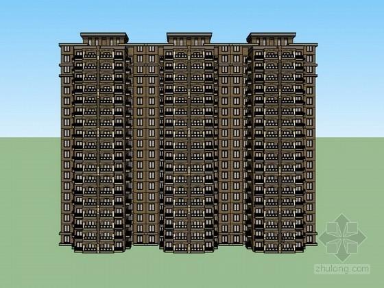 住宅楼建筑sketchup模型