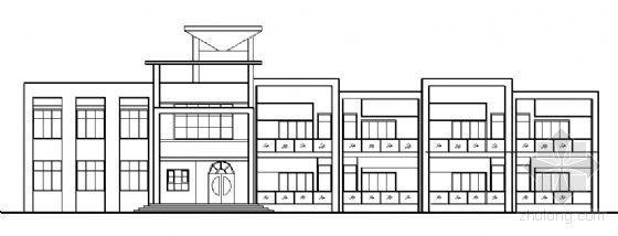 某二层广场小区幼儿园建筑方案图
