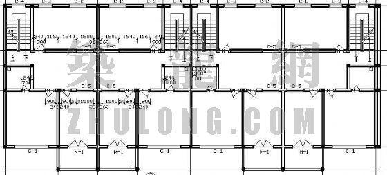 某联体别墅的平、立面设计方案-2