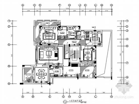 欧式风格双层别墅样板房装修图