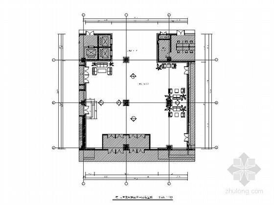 某办公楼大堂及电梯前室施工图