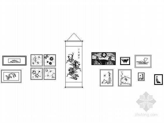 室内装饰画CAD图块下载