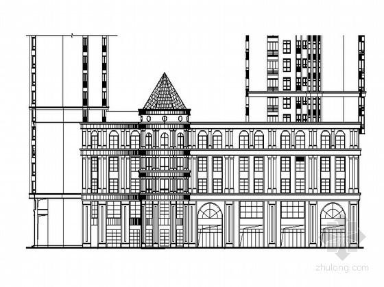 [湖南]某欧式现代小区三层商业楼建筑施工图(5号楼)