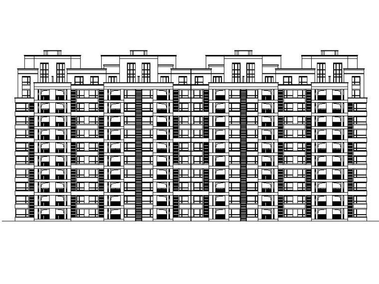 高层低密度中档精品塔式住宅楼建筑施工图(含效果图)