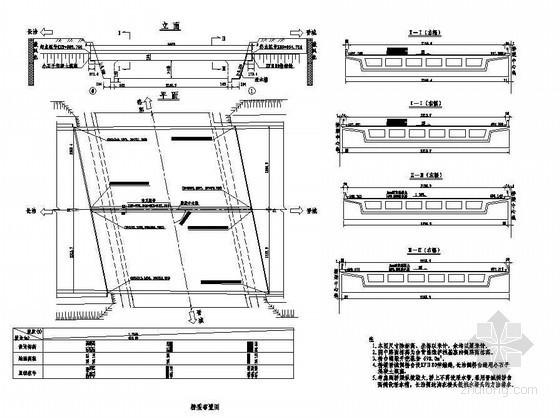 45m现浇预应力混凝土简支箱梁桥型布置节点详图设计