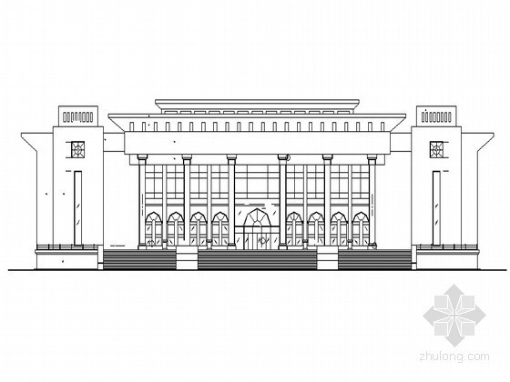 [新疆]某大学框架结构礼堂建筑施工图