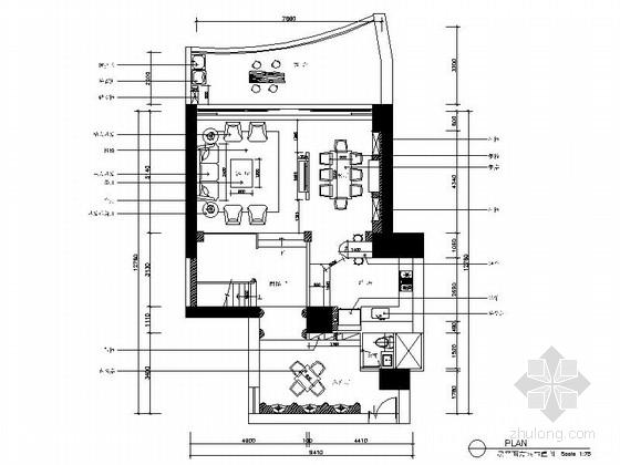 [深圳]欧式风格三层别墅样板间室内装修施工图(含效果)