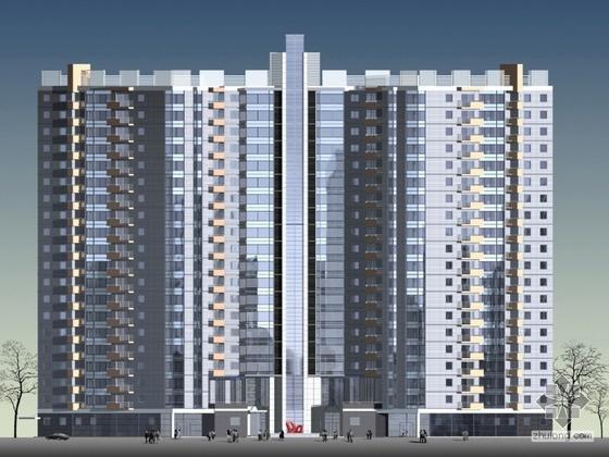 [北京]某二十三层国际公寓建筑CAD方案及文本设计(含设计说明)