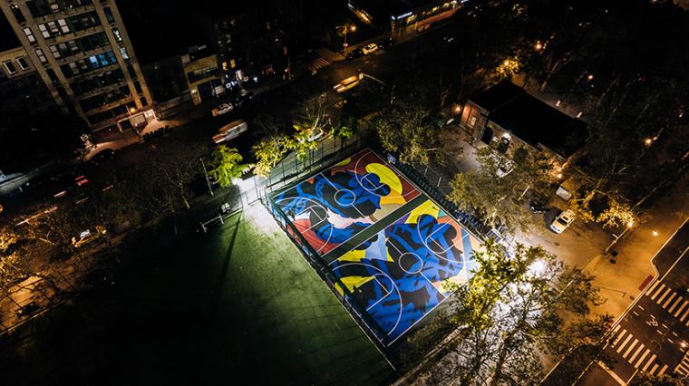 美国stanton街道篮球场的改造