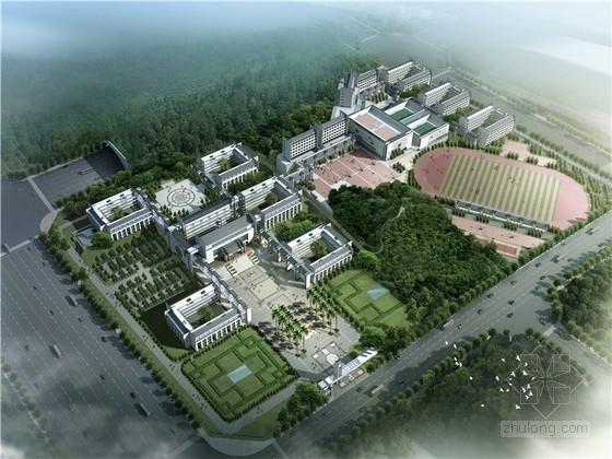 [广东]中式风格中学校园设计方案文本(含CAD、多媒体 2014年图纸)