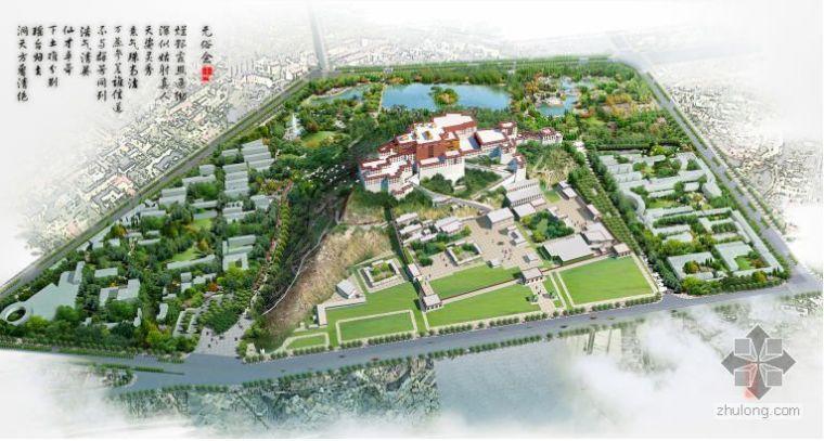 拉萨市某城市公园景观规划总平面图