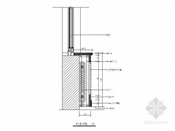 窗台板暖气罩做法节点CAD图块下载