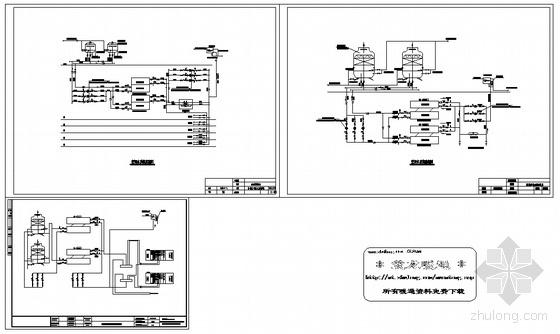 空调水系统流程图(三套)