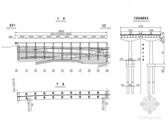 10×30m预应力混凝土T梁引桥全桥施工图(54张)