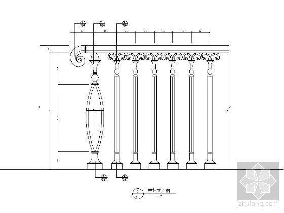 欧式古典室内阳台跃式踏级步梯详图