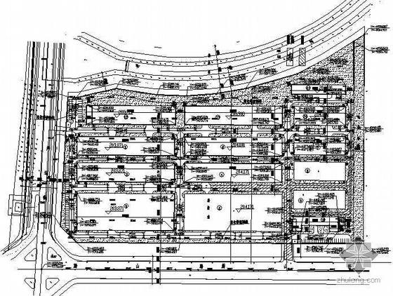 某厂区道路设计平面图
