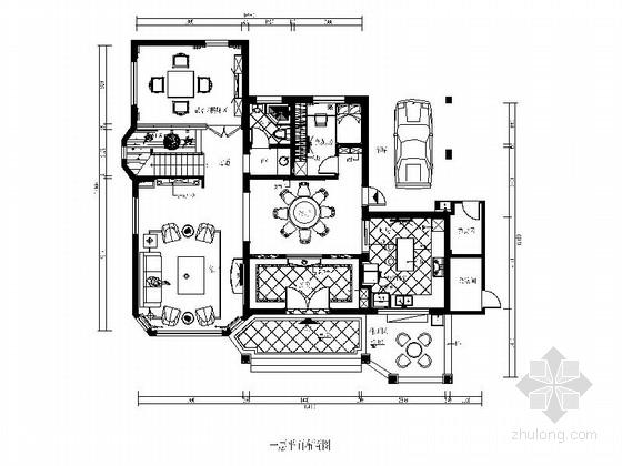 中欧混搭风格四层别墅样板房CAD装修图(含效果实景)