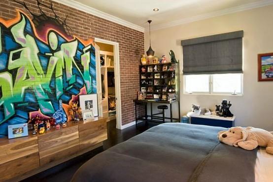 拒绝平庸,有什么墙纸可以比得上手绘的个性涂鸦墙呢?_8