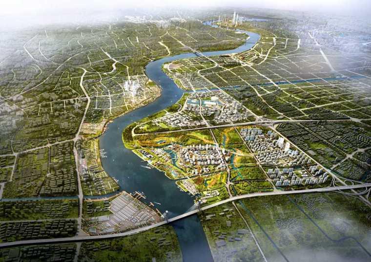 [上海]滨水海派特色人文城市景观规划设计方案