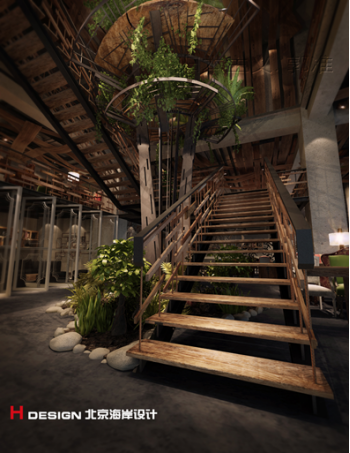 天津塘沽区咖啡厅设计案例_2
