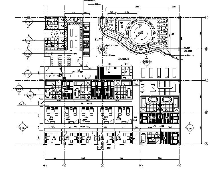 现代豪华国际酒店桑拿中心设计装修图