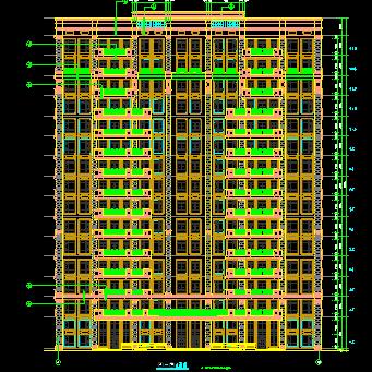 华东设计院——15层框架结构办公楼建筑施工图