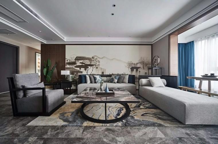 新中式沙发墙,高贵不庸俗,这才是中国人家中该有的调性