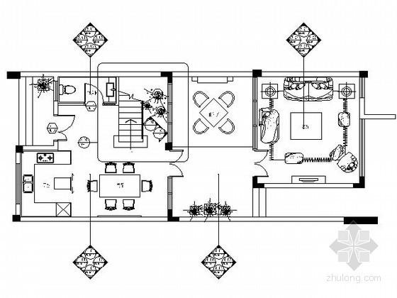 [海南]现代泰式风格三层别墅施工图