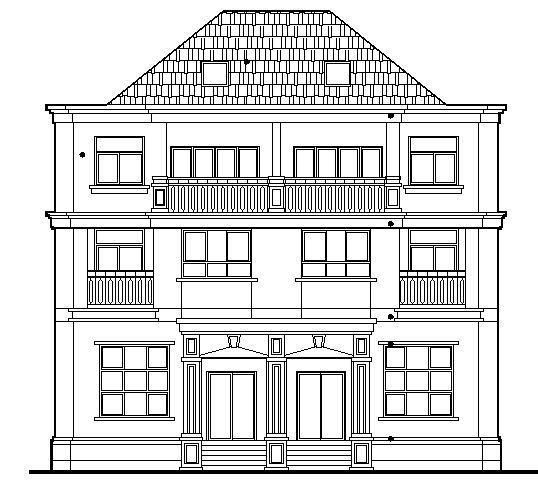 双拼别墅建筑施工图2