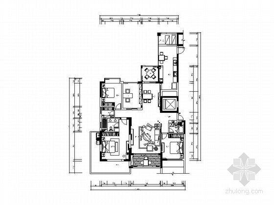 [绍兴]清雅端庄新中式风格三居室装修图(含效果图)