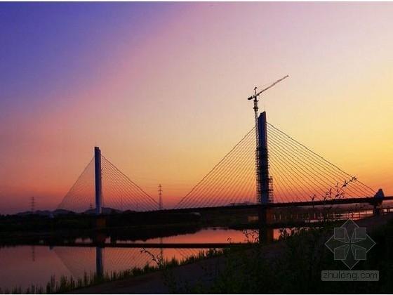 绕城一级公路主跨240米双塔单索面斜拉桥图纸225张(箱梁顶宽27.3m)