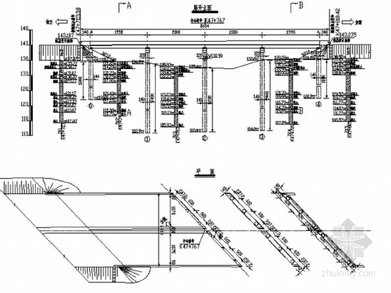 [黑龙江]4×20m预应力简支转连续空心板桥施工图48张