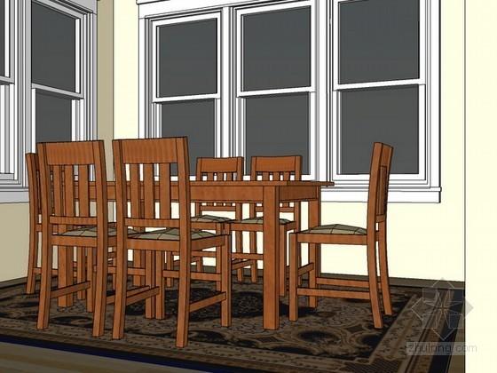室内场景sketchup模型-餐厅