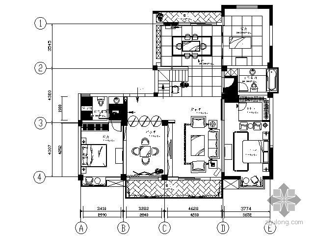 [江苏]现代简约中式家装施工图(含实景)