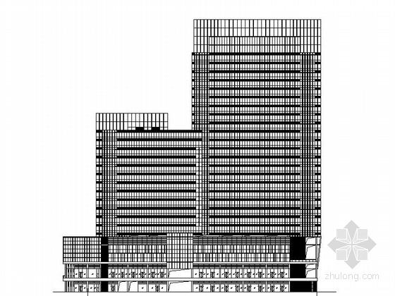 [深圳]现代风格高层办公楼建筑施工图