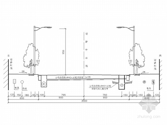 双向四车道城市道路多项工程施工图(标线 交叉口 涵洞)