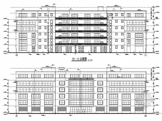 二层厂房建筑结构图资料下载-工业厂房扩建、新建建筑结构图(含加层)