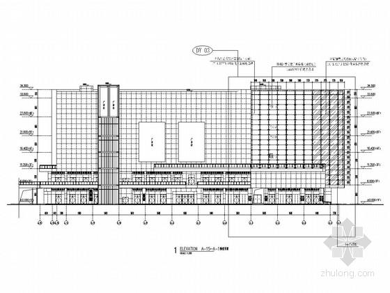 [福建]家居生活广场外幕墙施工图(点式玻璃幕墙)
