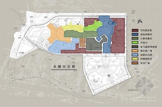 [广东]主题购物中心景观设计方案(超详细、全面)-主题分区
