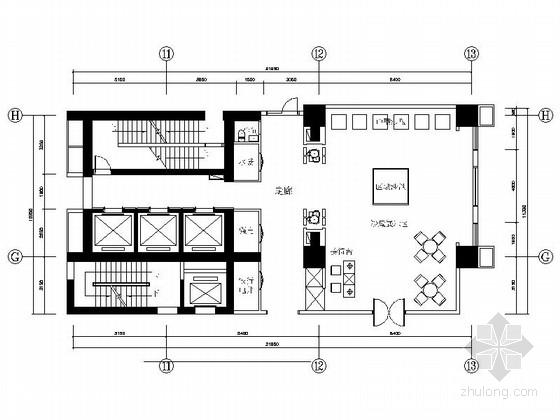 [山西]精品高档现代风格公寓大堂室内装修施工图(含效果)