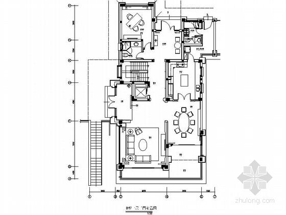 [成都]经典豪华三层别墅样板间室内装修图(含方案文本)