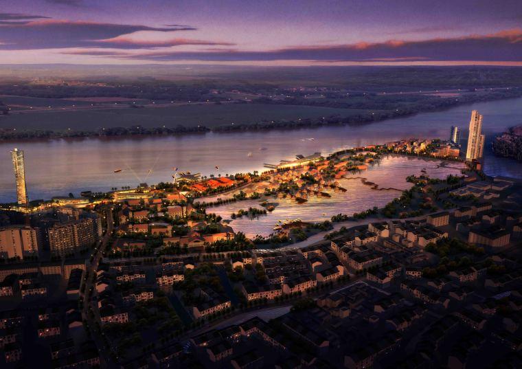 [广东]岭南水城概念城市景观规划设计|AECOM